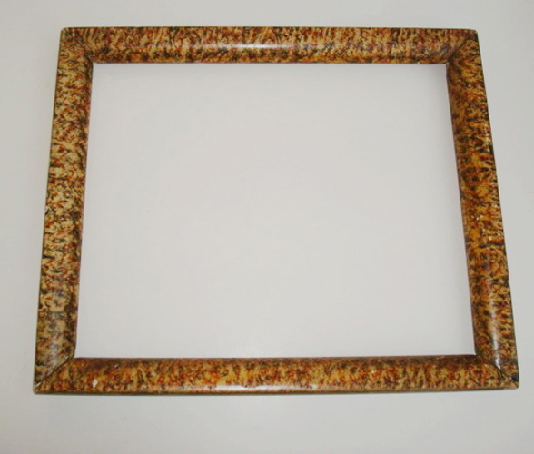 PICTURE FRAME, ANTIQUE, PAINTED FAUX MARBLE, 19TH C. AMERICAN