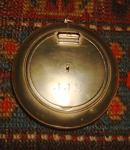 Vintage 19th Century Brass Tobacco Box with Hinged Lid