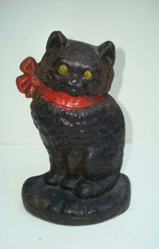DOORSTOP, KITTEN, CAST IRON, CIRCA 1930, NATIONAL FDY.