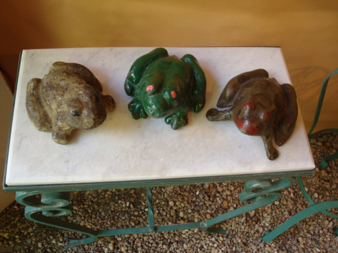 FROGS, CAST IRON, ANTIQUE, EARLY 20TH C.
