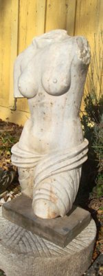 MARBLE TORSO OF WOMAN, CARVED