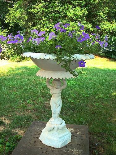 Antique garden planters urns garden antiques decorative arts antique cast iron putto urn 19th century workwithnaturefo