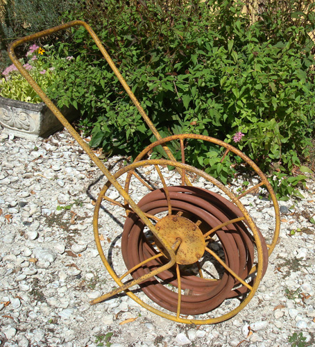 Vintage Hose Reel Garden Wrought Iron Antique Aileen