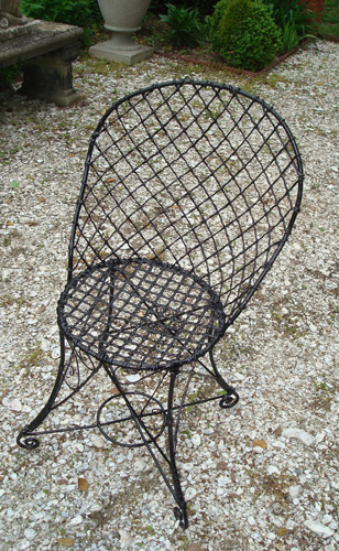 WIRE CHAIR, SINGLE, 19TH CENTURY