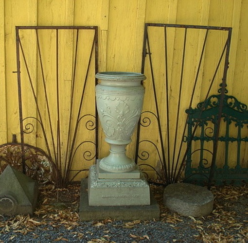 GATES, OR PANELS, ANTIQUE WROUGHT IRON WITH SCROLLS, C. 1920