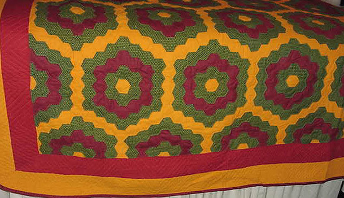 Antique American handstitched quilt from Ohio