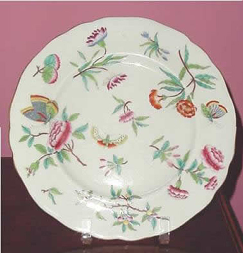 Antique Chamberlains Worcester Porcelain Large Plate