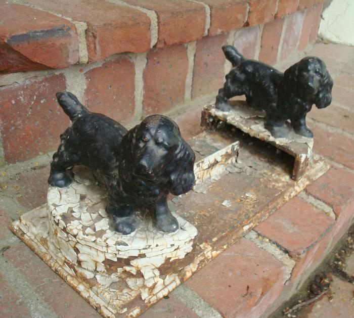 BOOTSCRAPER, ANTIQUE CAST IRON, ENGLISH COCKER SPANIEL