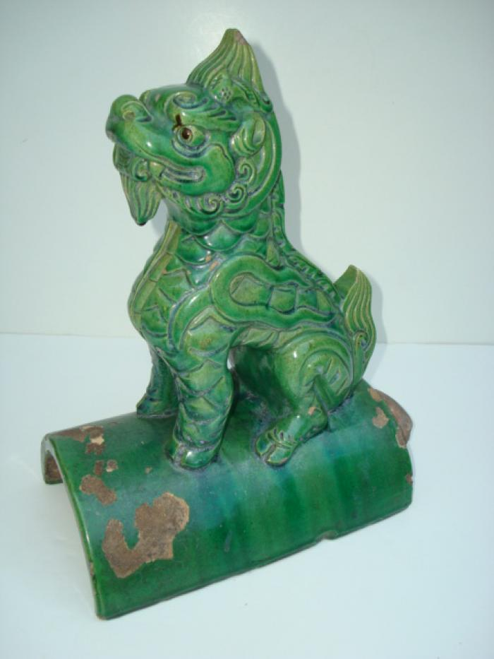 CHINESE ROOF TILE, DRAGON