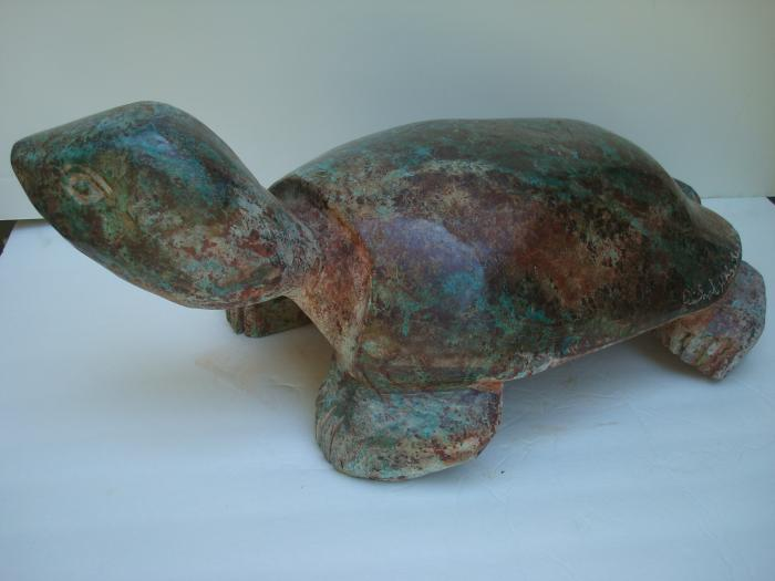 SCULPTURE OF STONE TURTLE