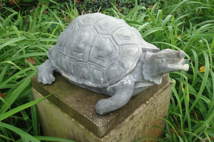 FOUNTAN, LEAD TURTLE