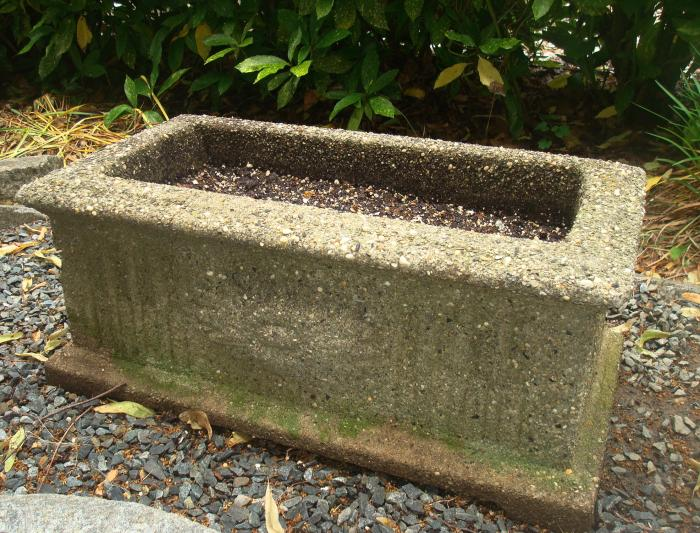 TROUGH PLANTER, CAST STONE