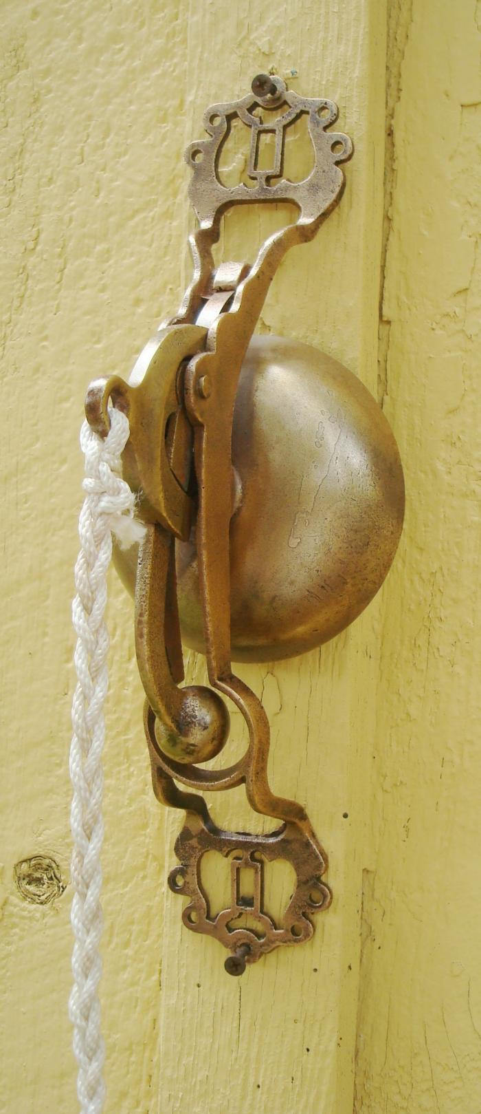 CAST BRASS BELL, ANTIQUE