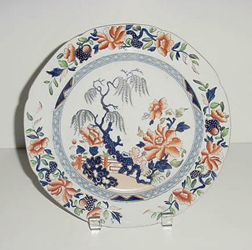 Antique Stone China Plate - Hicks and Meigh