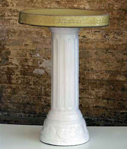Birdbaths were made of many different materials including marble, granite and limestone