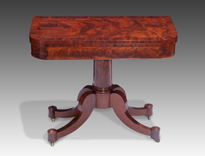 Antique Mahogany Card Table Attributed To Duncan Phyfe, New York