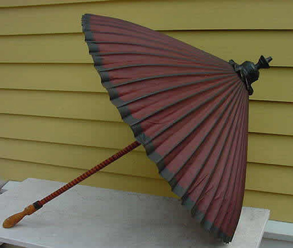 UMBRELLA, ANTIQUE JAPANESE, 19TH C.