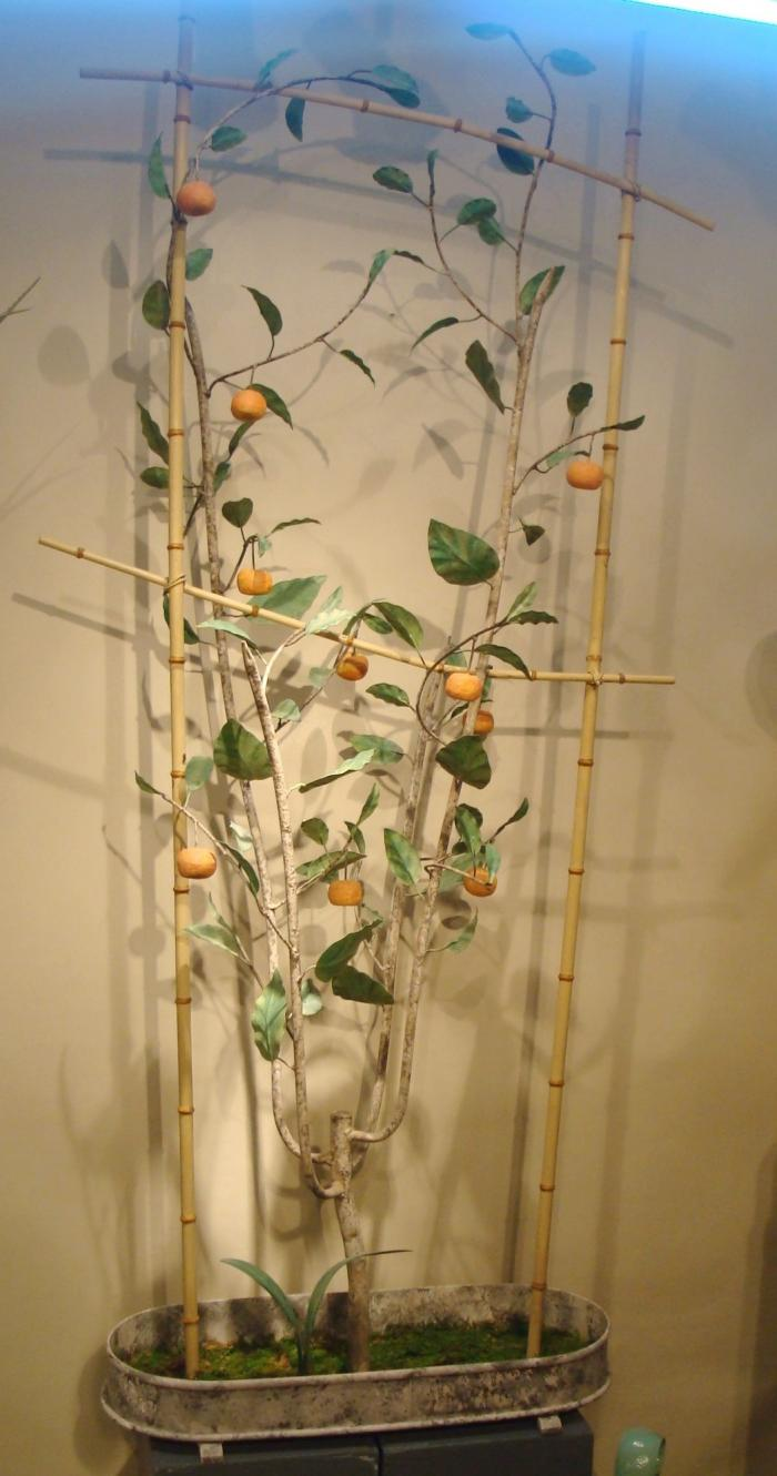 ORANGE TREE, WROUGHT IRON AND TOLE