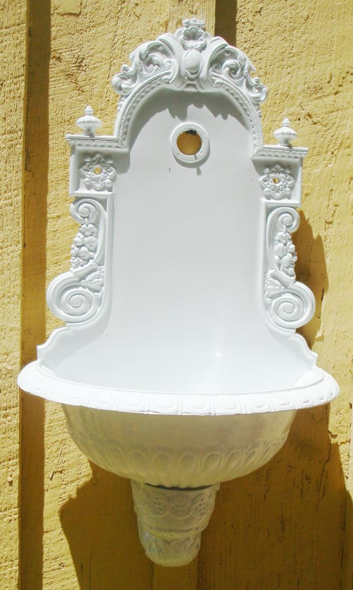 WALL FOUNTAIN, CAST IRON, ANTIQUE EUROPEAN