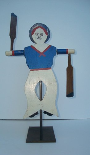 WHIRLIGIG, SAILOR, ANTIQUE, C. 1940