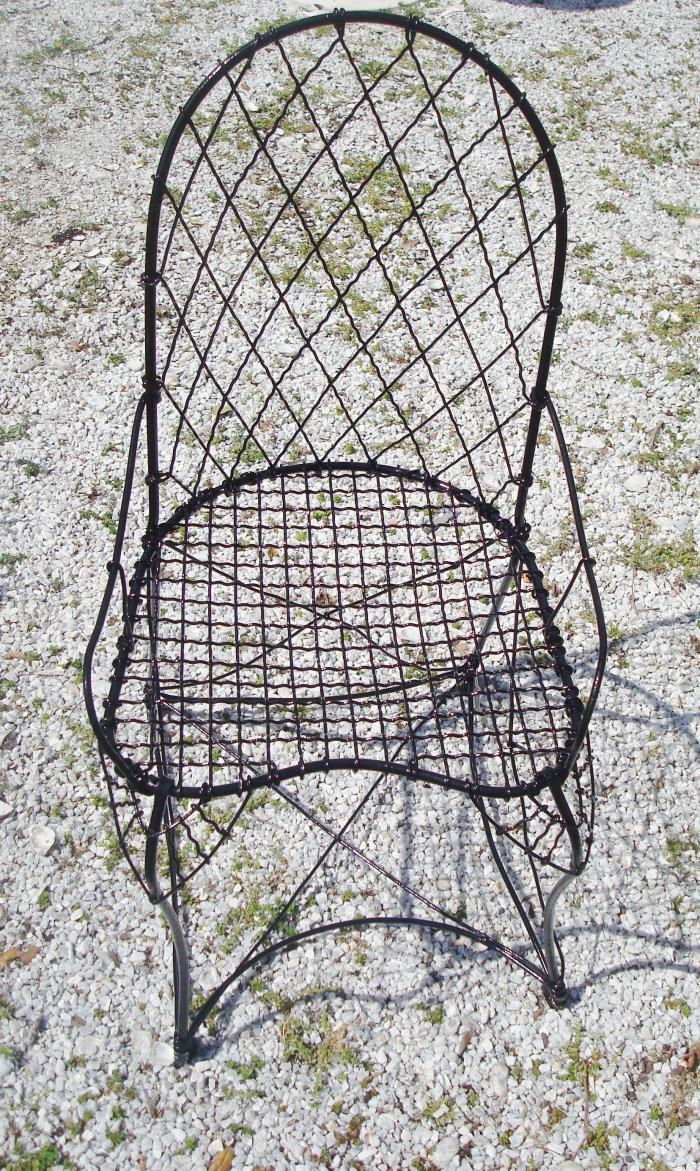 WIRE GARDEN CHAIR, SINGLE, ANTIQUE